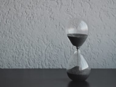 image of hourglass showing time running out
